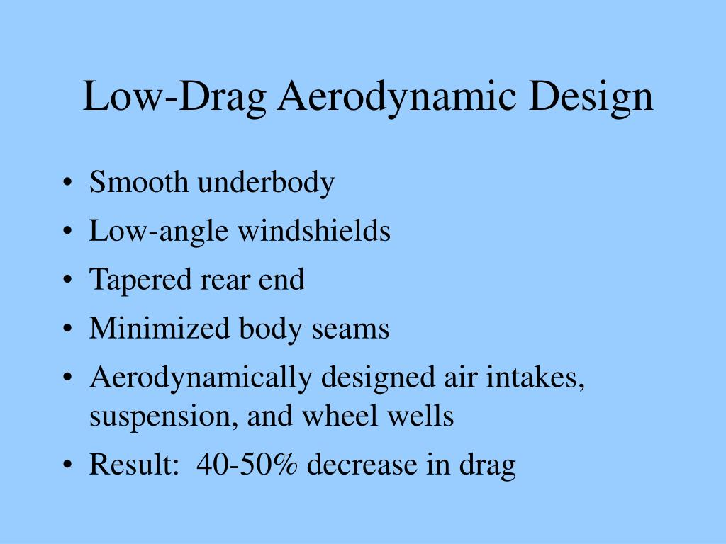 Low-Drag Aerodynamic Design