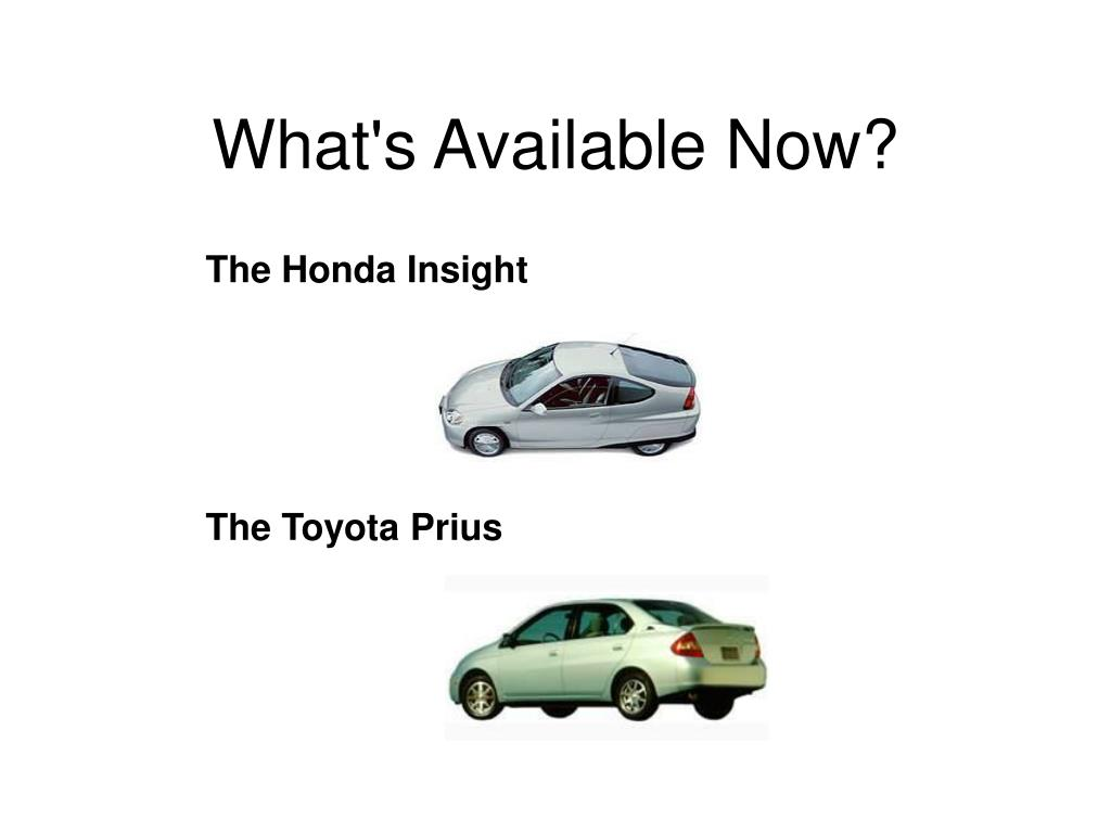What's Available Now?