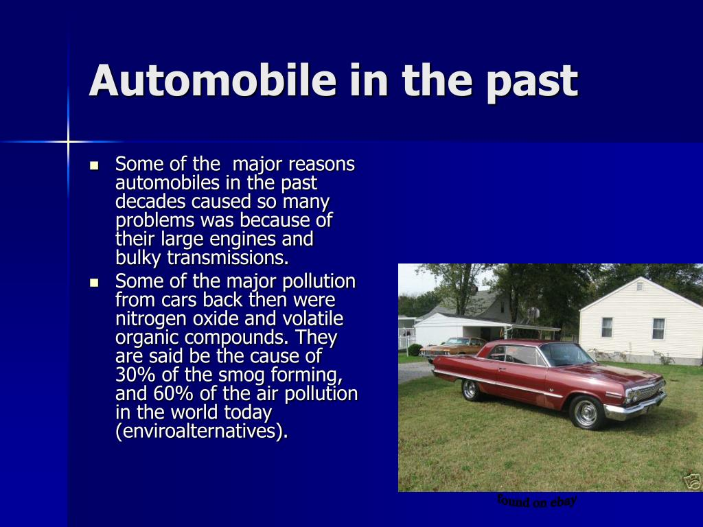 Automobile in the past