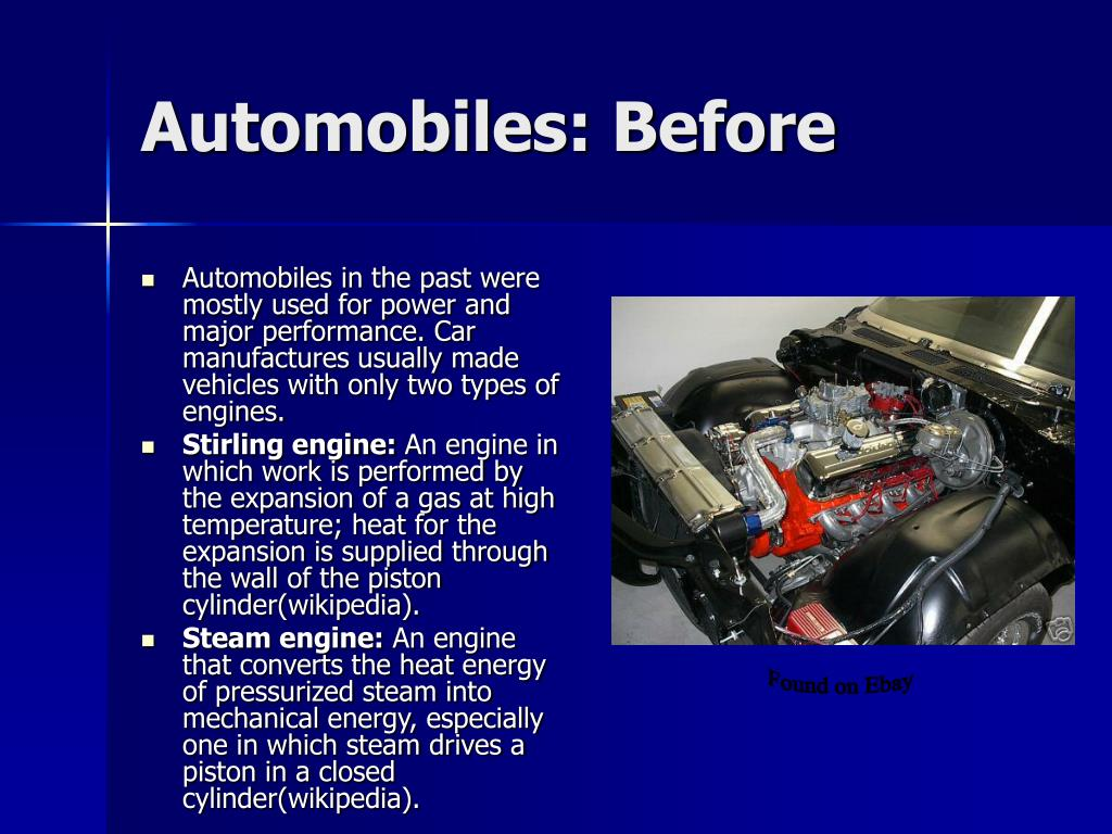 Automobiles: Before