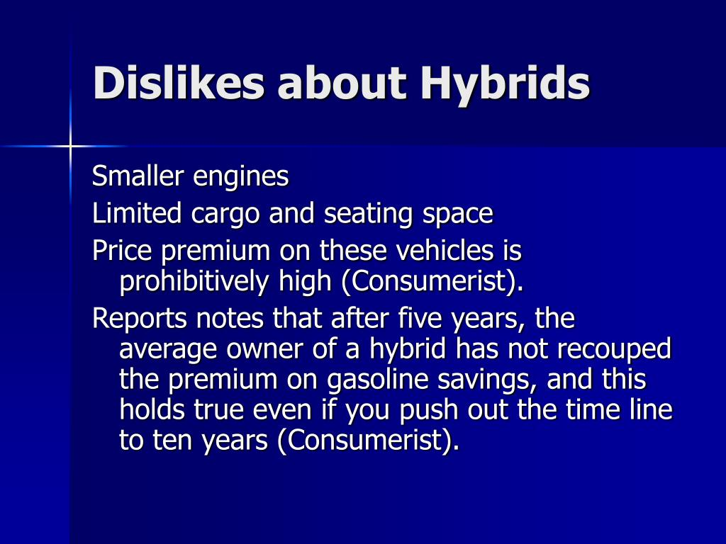 Dislikes about Hybrids