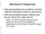 abraham s response