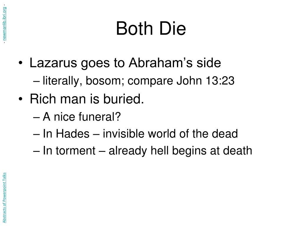 Both Die