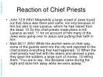reaction of chief priests