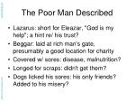 the poor man described