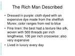 the rich man described