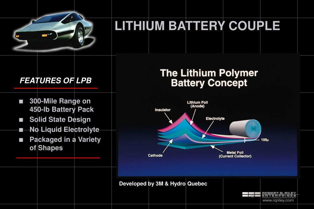 LITHIUM BATTERY COUPLE