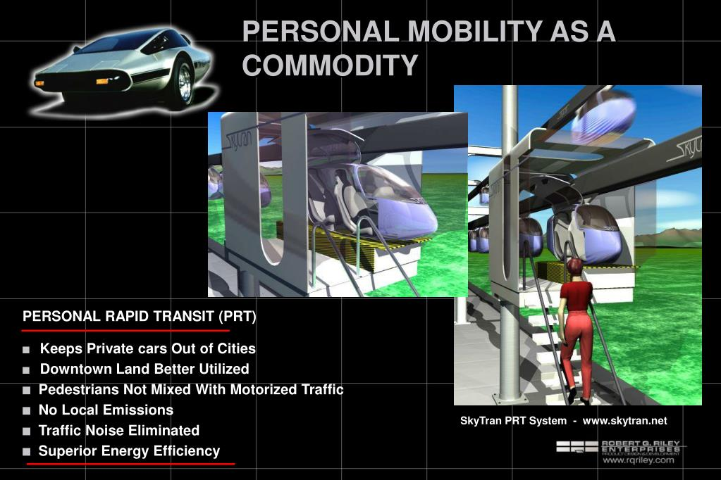 PERSONAL MOBILITY AS A COMMODITY