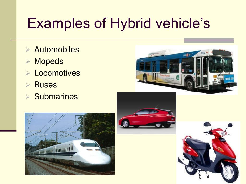 Examples of Hybrid vehicle's