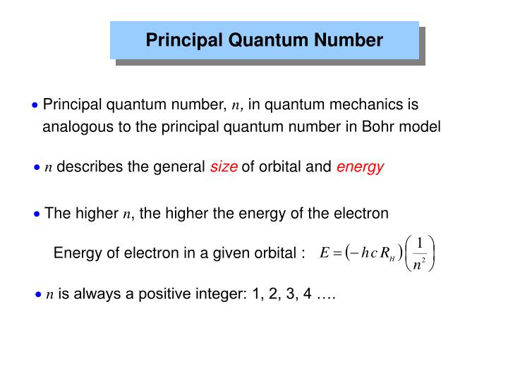 Energy of electron in a given orbital :