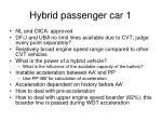 hybrid passenger car 123