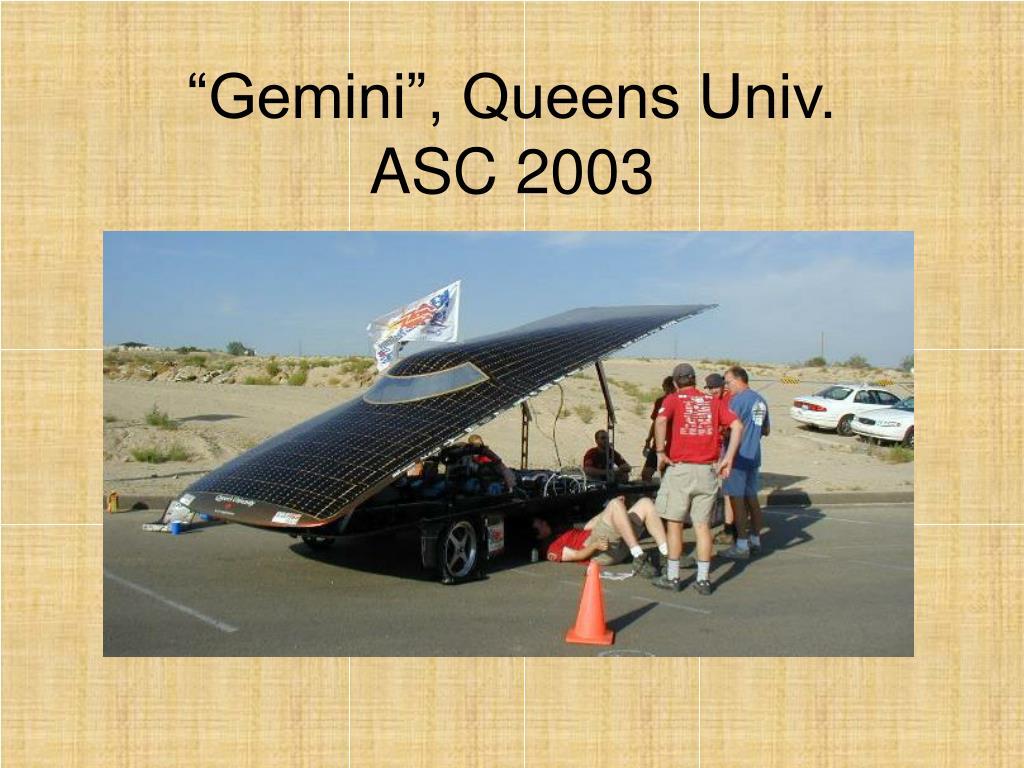 """""""Gemini"""", Queens Univ."""