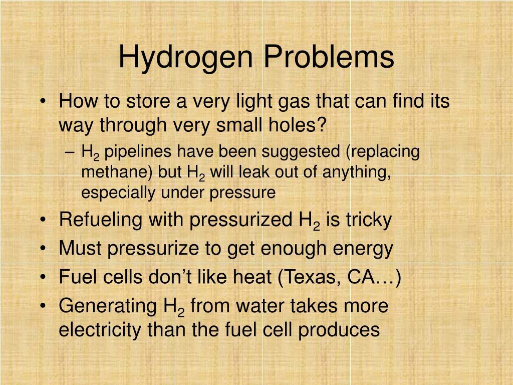 Hydrogen Problems
