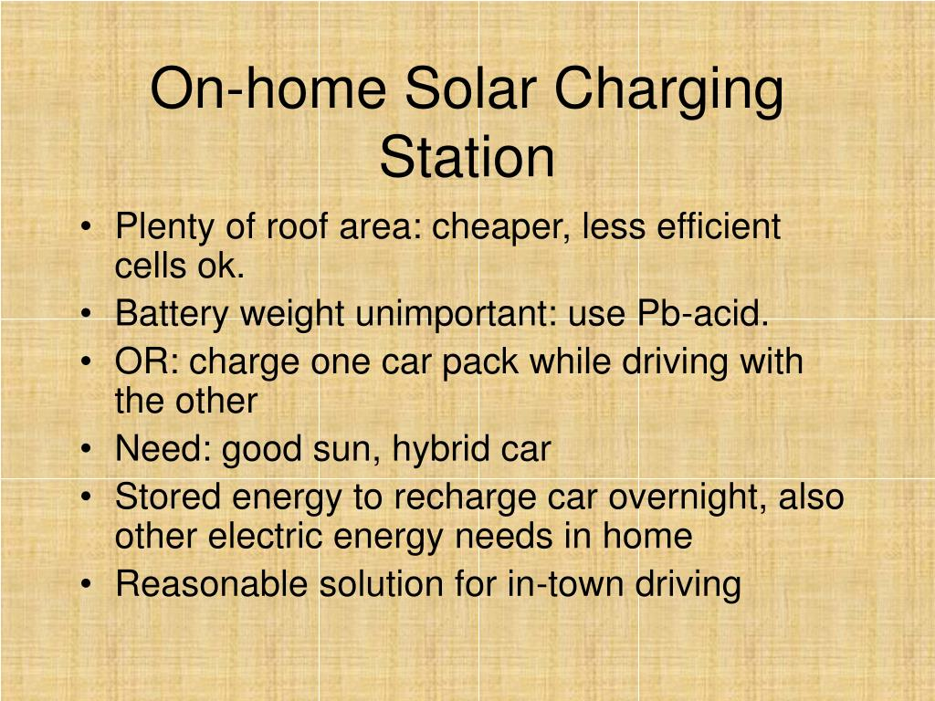On-home Solar Charging Station