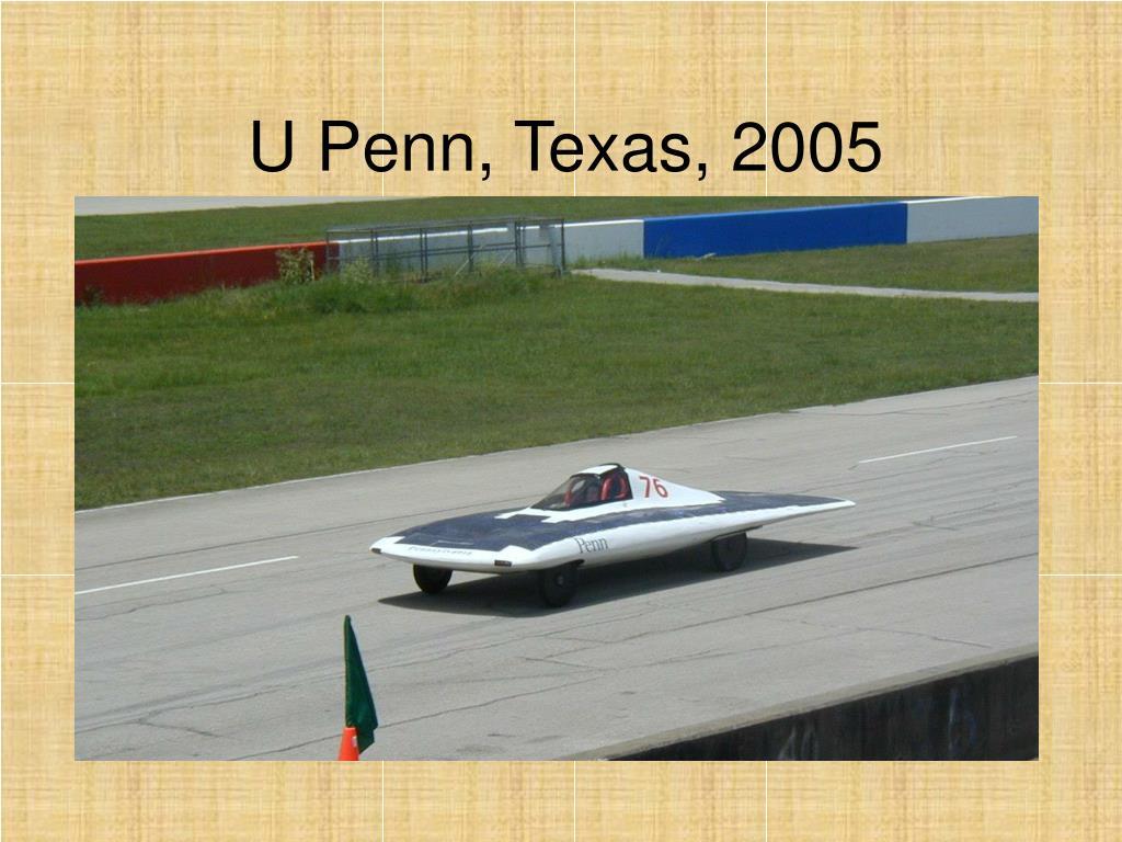 U Penn, Texas, 2005