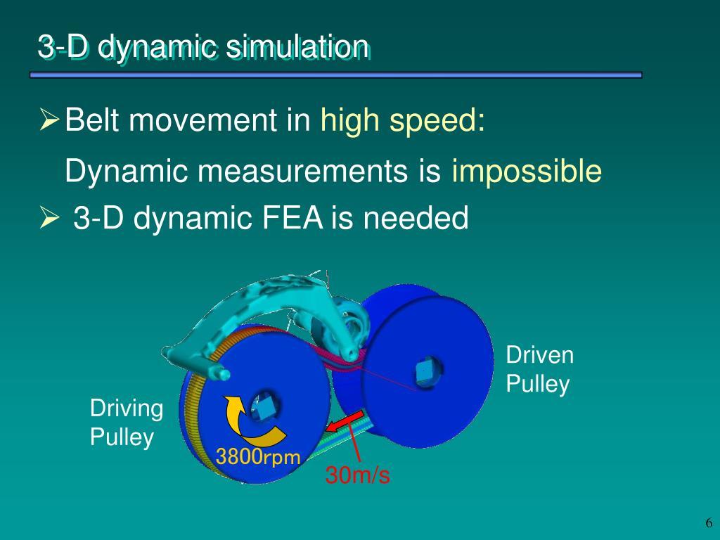 3-D dynamic simulation