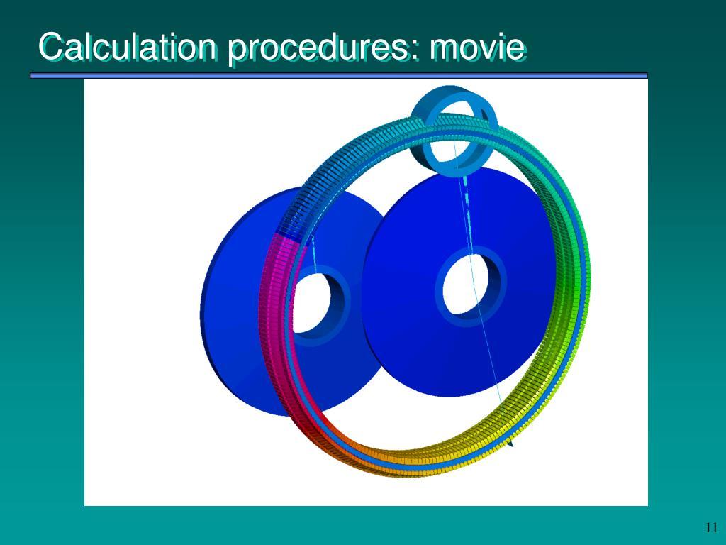 Calculation procedures: movie