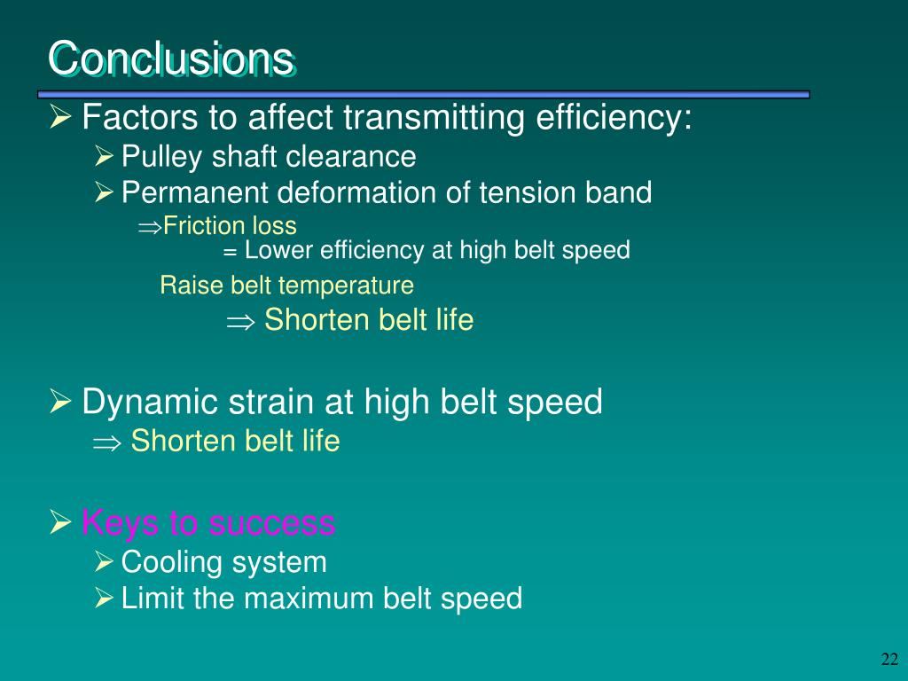 Factors to affect transmitting efficiency: