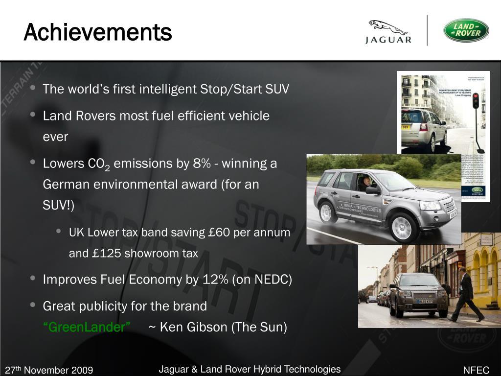 The world's first intelligent Stop/Start SUV