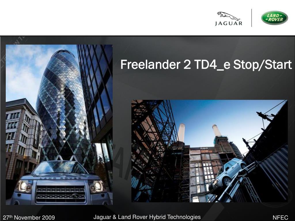 Freelander 2 TD4_e Stop/Start