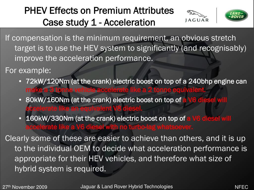 PHEV Effects on Premium Attributes