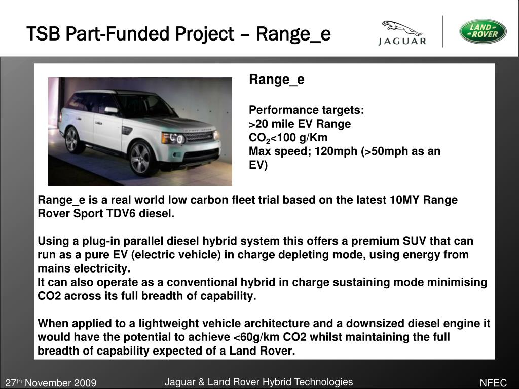 TSB Part-Funded Project – Range_e