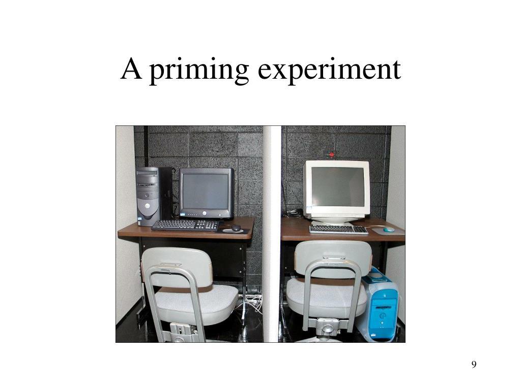 A priming experiment