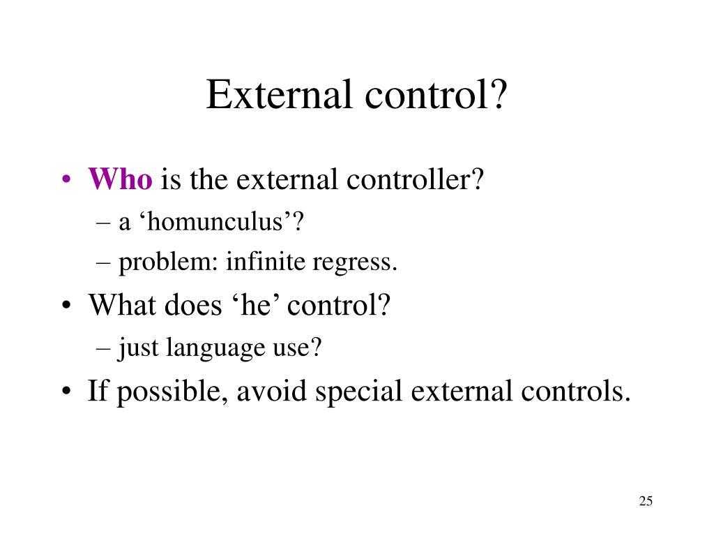 External control?