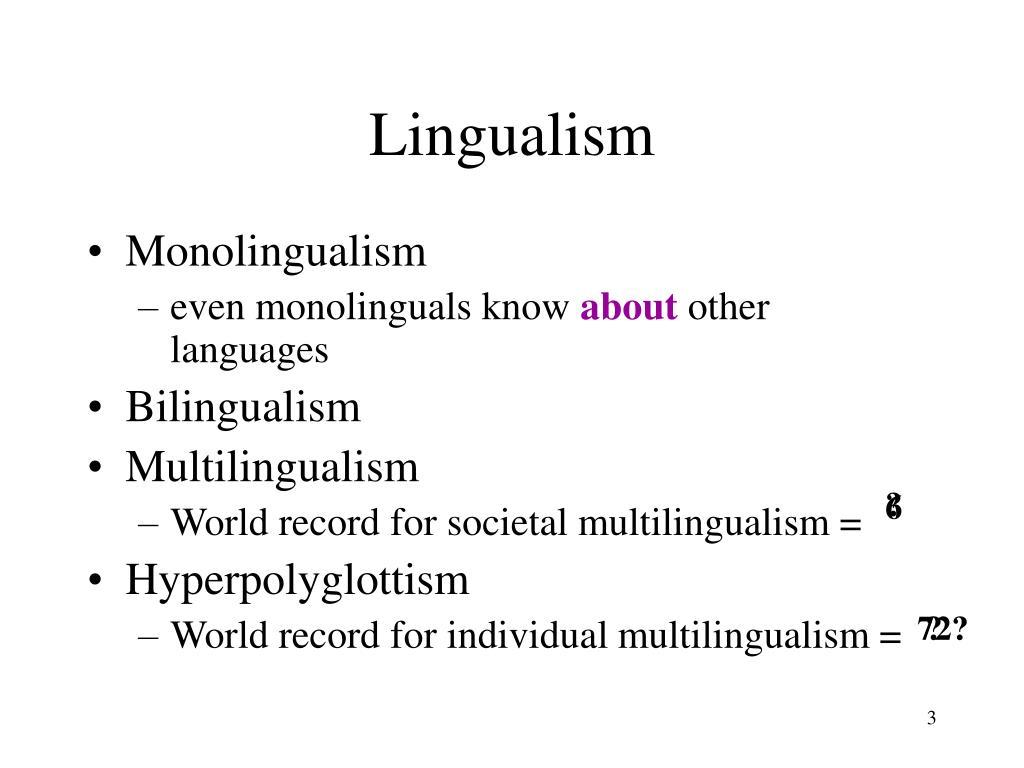 Lingualism