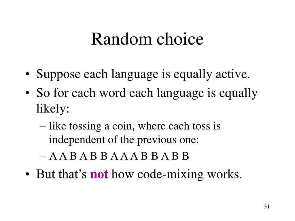 Random choice