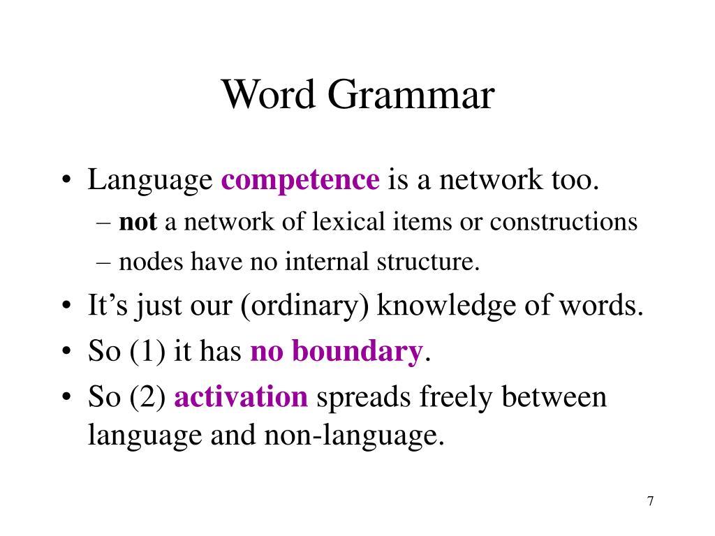 Word Grammar