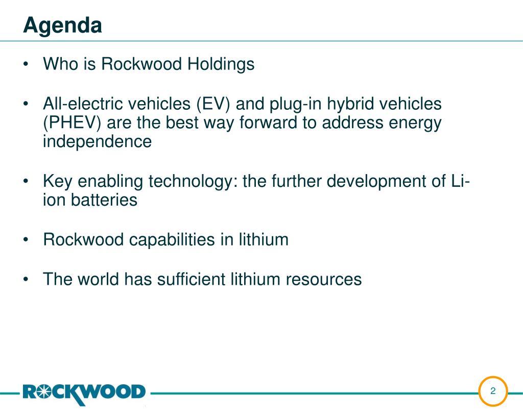 Who is Rockwood Holdings