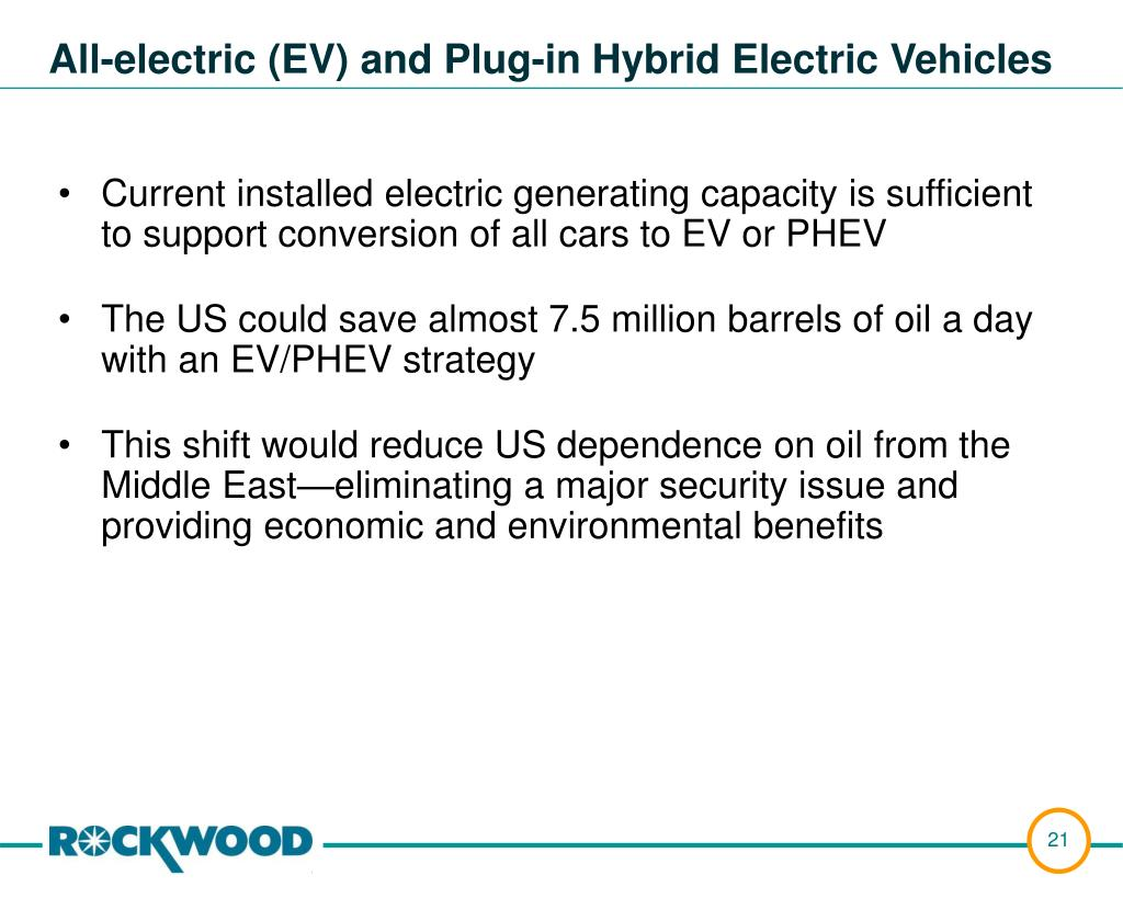 Current installed electric generating capacity is sufficient to support conversion of all cars to EV or PHEV