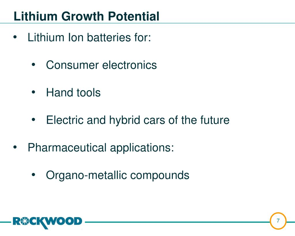 Lithium Growth Potential
