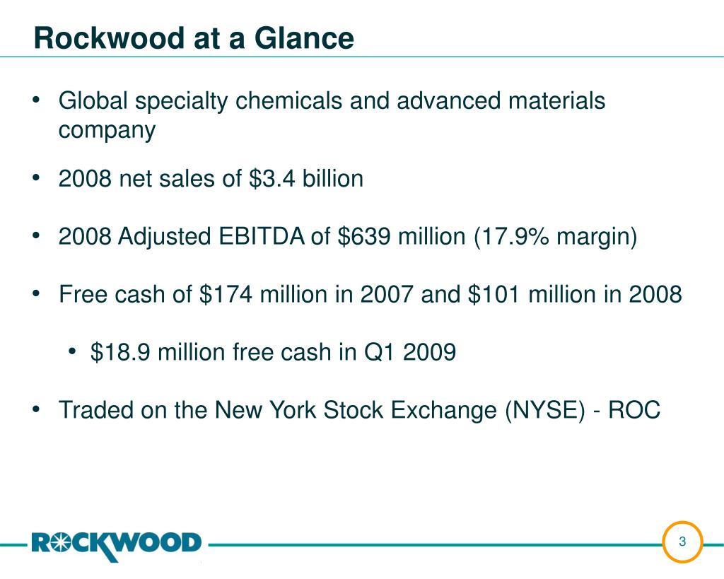 Rockwood at a Glance