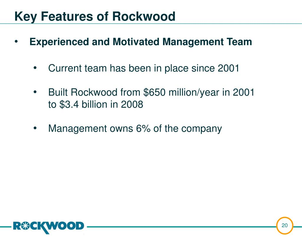 Key Features of Rockwood