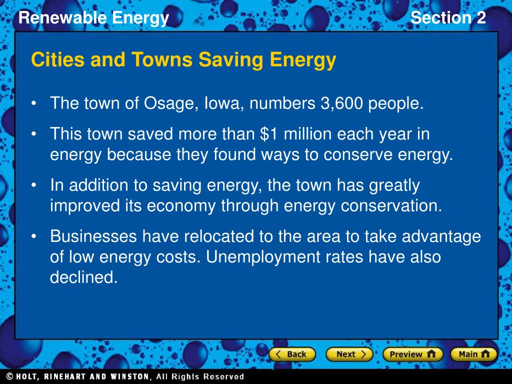 Cities and Towns Saving Energy