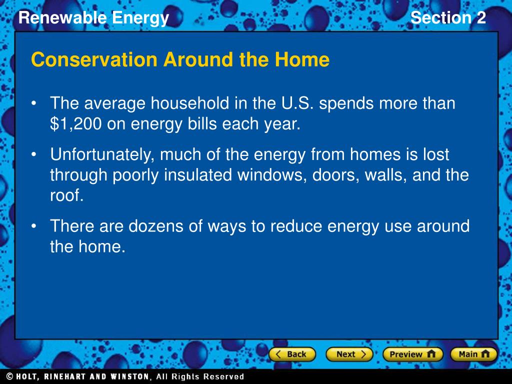 Conservation Around the Home