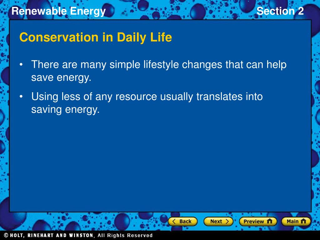 Conservation in Daily Life