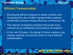 efficient transportation