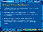 hydrogen a future fuel source