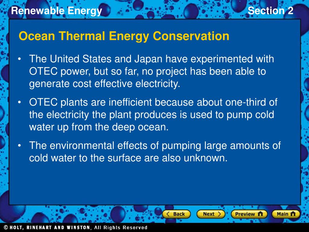 Ocean Thermal Energy Conservation
