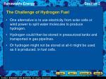 the challenge of hydrogen fuel18