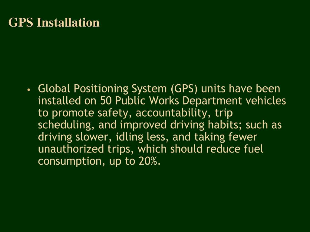 GPS Installation