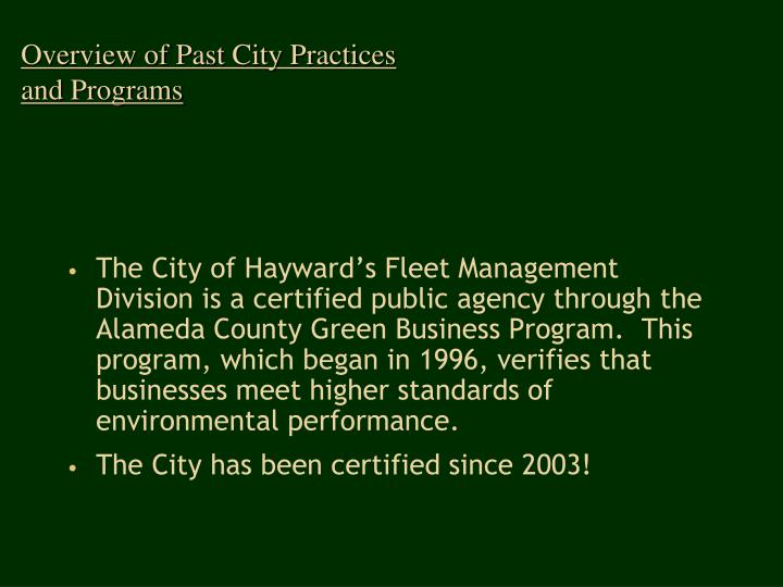 Overview of past city practices and programs l.jpg