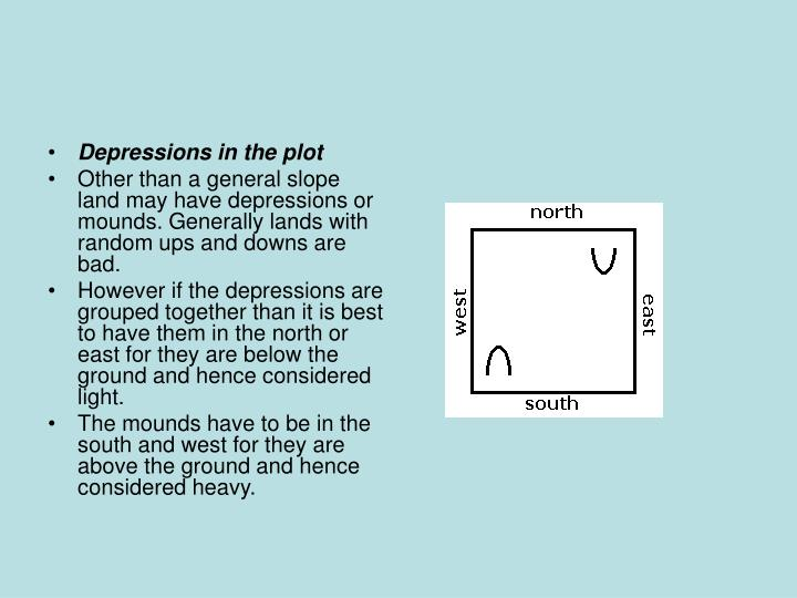 Depressions in the plot