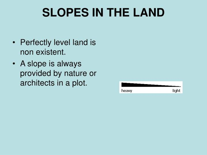 SLOPES IN THE LAND