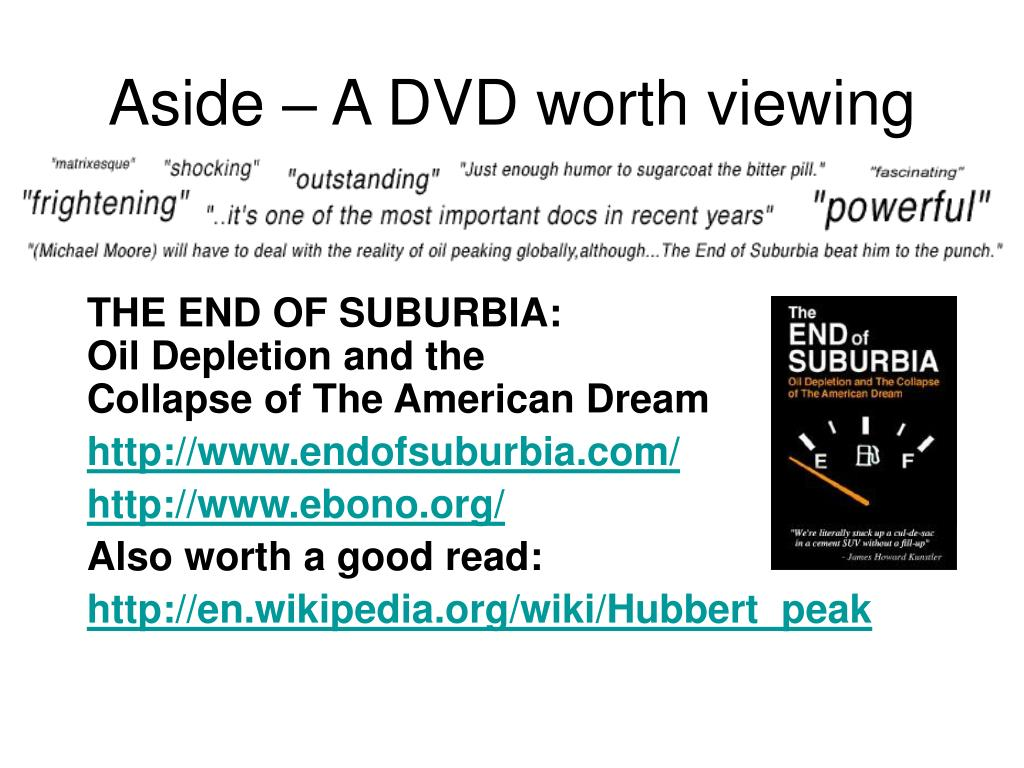 Aside – A DVD worth viewing