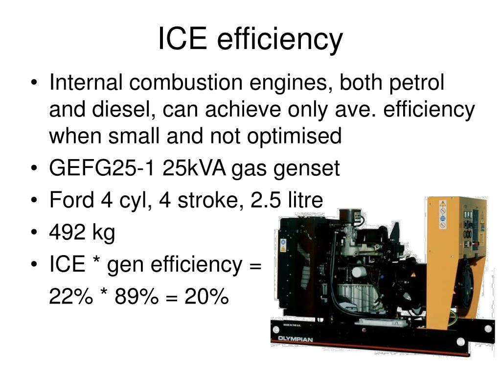 ICE efficiency