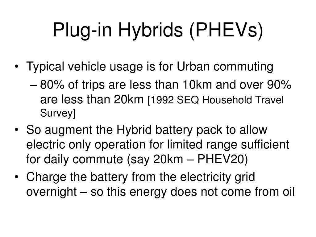 Plug-in Hybrids (PHEVs)